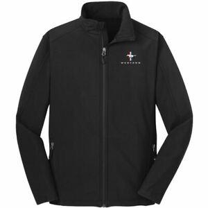 Mustang Soft Shell Jacket in Black w/ Tri-Bar Logo ~ Stylish, Warm & Ships FREE!
