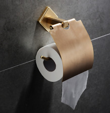 Brushed Gold Paper Holder With Cover Roll Rack Brass Bathroom accessories Toilet