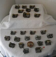 Lot of 25 -Vintage Music Box Movements - For Parts - Not Working - Switz & Japan
