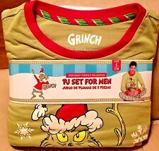 NWT Dr Seuss Grinch Men's Christmas Pajamas Set S M L XL 2X 3X 34 38 42 46 50 54