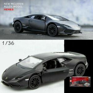 1:36 BLACK Lamborghini Huracan Sports Car Vehicle Collection Model Diecast Toy