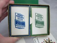 Advertising playing cards. Home Federal Savings & Loan