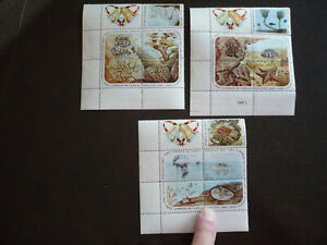 Stamps - 9Cuba - Scott# 916a, 921a, 926a - Blocks