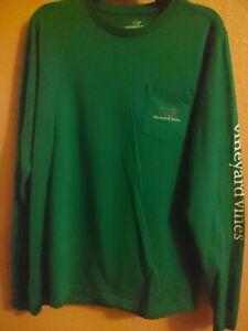 Vineyard Vines Boy's (16/18)Green long sleeve Pocket t shirt Size X Large XL