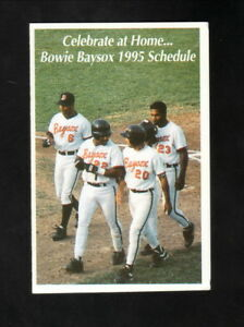 Bowie Baysox--1995 Pocket Schedule--Safeway--Orioles Affiliate