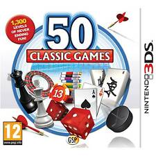 50 CLASSIC GAMES NINTENDO 3DS 3DS XL KIDS GAME EXCELLENT CONDITION