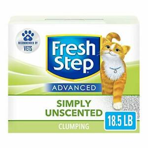 Fresh Step Advanced Simply Unscented Clumping Cat Litter Recommended by Vets ...