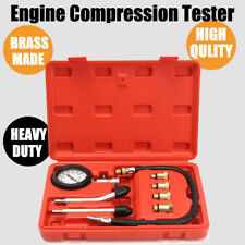 Auto Car Motorcycle Petrol Diesel Engine Compression Tester Kit Test Gauge Tools
