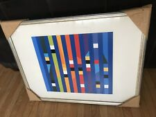 Yaacov Agam Israeli  Modern Art Framed Print Ex Condition Signed Numbered 30/50