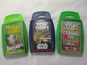 3 packs of pre loved top trumps    (see description)