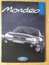 FORD MONDEO Range 1996 1997 UK Mkt Prestige Sales Brochure - ST24 Ghia X etc