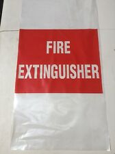 Fire Extinguisher Bag UV Treated Suit 4.5kg-9.0kg Protective Cover Large