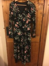 M&S Floral/ Black Dress Size 12