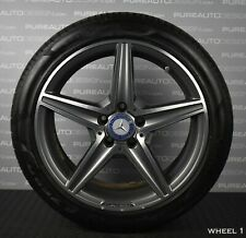 "Genuine Mercedes C Class W205 18"" Alloy Wheels And Pirelli Tyres W204 5x112 TPMS"