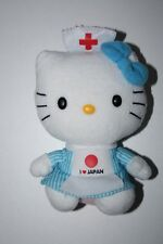 DOUDOU PELUCHE CHAT TY HELLO KITTY I LOVE JAPAN INFIRMIERE SANRIO 15 CM