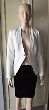 WITCHERY: Career Formal Jacket w/Shoulder Pads, LINEN MIX, Pearl White