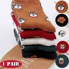 1Pair Cute Cartoon Women Cotton Thick Socks Funny Dog Animal Pattern Casual Sock