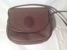 Mark Cross Vintage Handbag Greenish Brown all leather Italy Excellent Condition