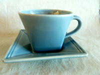 Williams Sonoma 1 Hudson Blue Cup/Saucer Set  Square  Portugal
