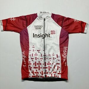 WOMENS 2XL SAFETTI WHITE/PINK/RED INSIGHT VR7 CYCLE JERSEY