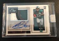 2019 PANINI ONE MILES SANDERS PREMIUM RPA 4 COLOR PATCH ON CARD RC AUTO  /99