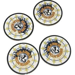 Final Fantasy Coaster Set VII 7th Heaven Collectables 4 Pack
