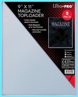 """5 Ultra Pro 9""""x11"""" Thick Magazine Holder TOPLOADERS NEW Protector Photo Document"""