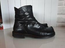 EVERYBODY Damen Boots Schwarz Leder Karree Winter warm gefüttert Gr. 38 TOP