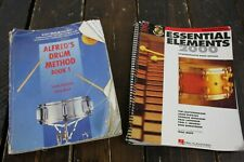 Alfred Drum Method 1 & Hal Leonard Essential Elements 200 Drum Books #R8530