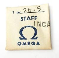 OMEGA 26.5 INCA BALANCE STAFF BRAND NEW ORIGINAL GENUINE NOS SWISS CALIBER