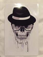 Classy Skeleton Skull Decal Sticker