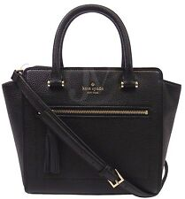 NWT KATE SPADE SMALL ALLYN CHESTER STREET BLACK LEATHER SATCHEL CROSSBODY BAG