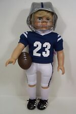 Blue Complete Football Uniform Doll Clothes For 18 American Girl Boy Logan (Debs