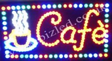 Flashing CAFE coffee catering food LED sign new window Shop signs