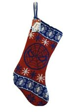 "NWT Marvel Comics Amazing Spider-Man Knit Christmas Stocking  18"" Winter Holiday"