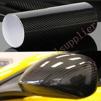 152x50cm 5D Pegatina Fibra Carbono Vinilo Resistente al Agua Alto Brillo