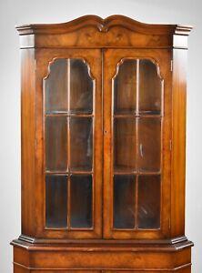 George III Style Walnut Corner Cabinet