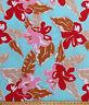 "60"" Tropical Hawaiian Flowers Floral Hibiscus Aqua Cotton Fabric Print D256.03"