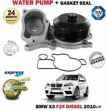 FOR BMW X3 F25 SDRIVE XDRIVE 18D 20D 2010-> NEW WATER PUMP + GASKET KIT