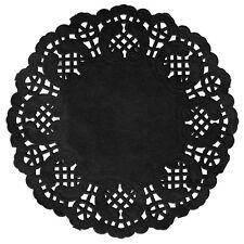 Platzdeckchen Einfach Spitze 10 Stk 35 cm schwarz Tischdeckchen Platzmatte Decke