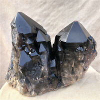 Rare  98.56LB Natural smoky black quartz Cluster Vug crystal point Specimen T143