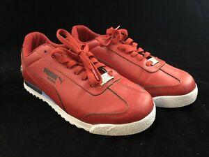 Puma BMW Roma Men's Red Sneakers Shoes 24.5 CM US 6.5 EU 38.5