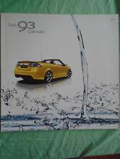 Saab 93 Convertible brochure 2009 German text