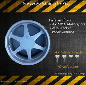 MK1 Motorsport Wheel Cap Felgendeckel passend bei MK1 4xNabendeckel Deckel flach
