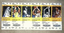 Uncut Promo Sheet Of 6 Cal Bears Ncaa Basketball Tickets - 2008 - Near Mint