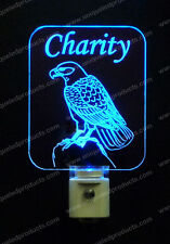 Bald Eagle Personalized LED Night Light - Bird Lamp - Kids, Handmade nightlight