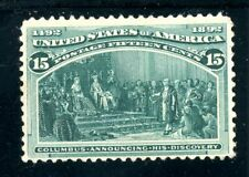 USAstamps Unused VF US 1893 Columbian Expo Announcing Discovery Scott 238 MNG