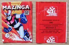BUSTINA FIGURINE - MAZINGA Z - RAI TV - Ed. Edierre, 1980 - VUOTA, RARA*