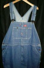 Dickies Bib Overalls Carpenter Work Jeans men's 42 x 30 NICE & CLEAN