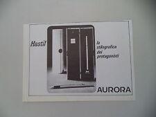 advertising Pubblicità 1977 AURORA HASTIL